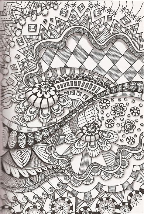 pattern of zentangle tangle 35 tangled doodles and zentangles