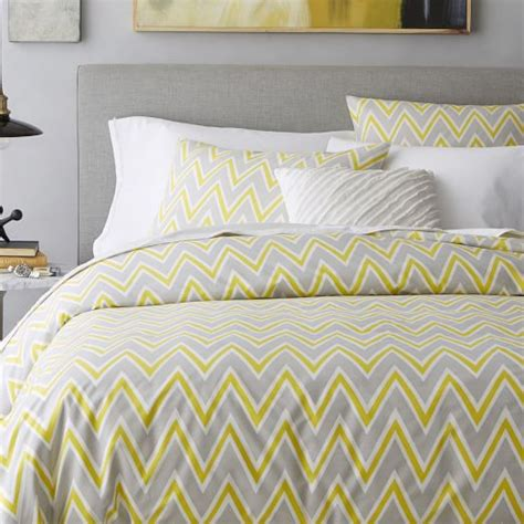 zig zag bedding pop zigzag duvet cover shams sun yellow west elm