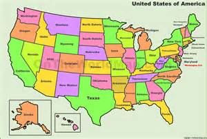 usa states map list of u s states