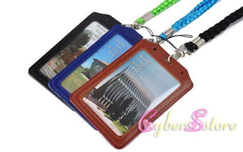 2018 leather id badge card holder neck lanyard