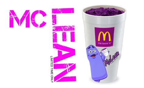 Purple Drank Also Search For Mcdonalds To Serve Quot Lean Quot Mclean For Limited Time