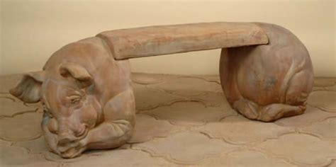 concrete pig bench statues statues com