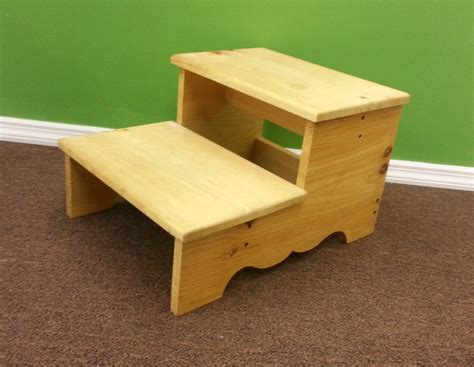Unfinished Pine Step Stool by Pine Two Step Stool Generations Home Furnishings