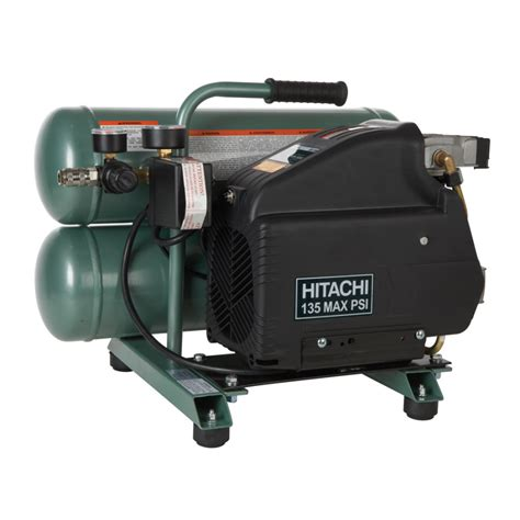 shop hitachi 4 gallons stack electric air compressor at lowes