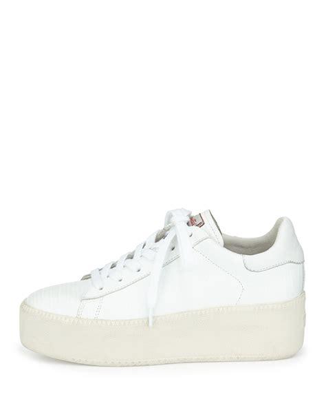ash platform sneakers ash cult platform leather sneaker in white lyst