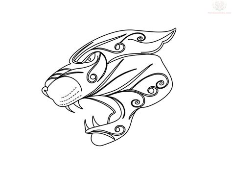 scalp tattoo designs tribal jaguar design