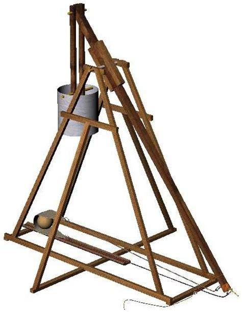 swinging counterweight trebuchet designed for hurling tennis balls this 30 inch axle