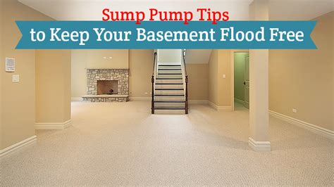 sump tips to keep your basement flood free