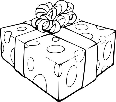 coloring pages birthday presents clipart gift coloring page