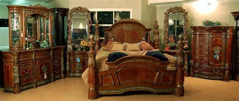 classic romantic  world spanish chestnut bedroom set