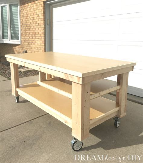 garage work table designs how to build the diy garage workbench free plans