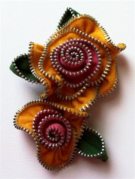 Handmade Brooch - multi colored handcrafted net and velvet brooches