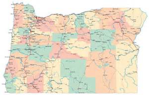 oregon large map large administrative map of oregon state with roads