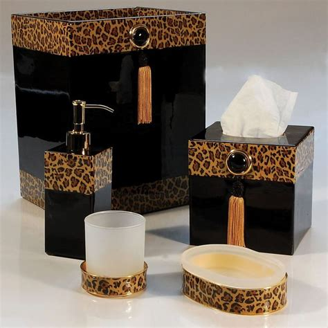 leopard print bathroom ideas  pinterest