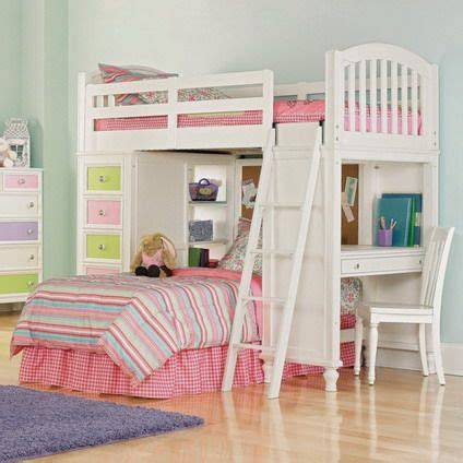 kids loft bedroom sets beautiful and cute pink and white decoration with double deck bunk bed designs for small kids