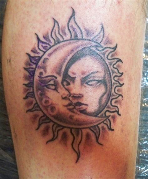 sun and moon tattoos moon tattoos