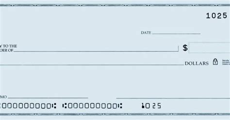 personal check template template of a blank check printable personal blank check