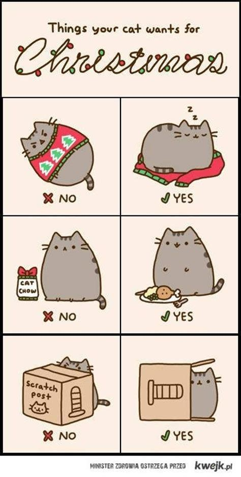 Pusheen Cat Meme - pusheen things your cat wants for christmas i want