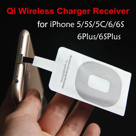 Sale Qi Wireless Charger Card Receiver Untuk Iphone 5 6 5s 5c aliexpress buy new qi wireless charger receiver card for apple iphone 6 iphone 6 plus mini