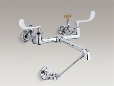 loose faucet handle bathroom sink kohler double wristblade lever handle service sink faucet