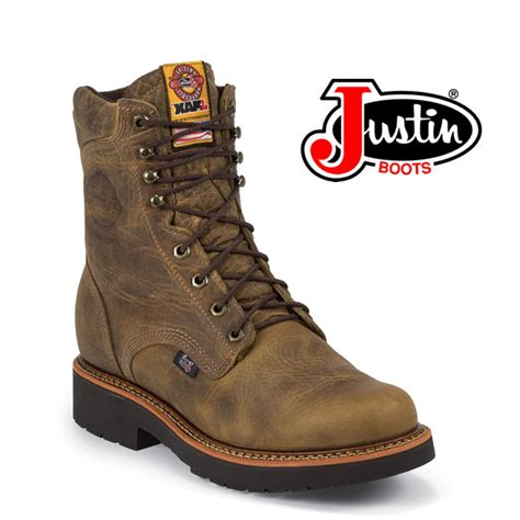 justin rugged gaucho s justin 8 quot rugged gaucho work boot 440 outback leather