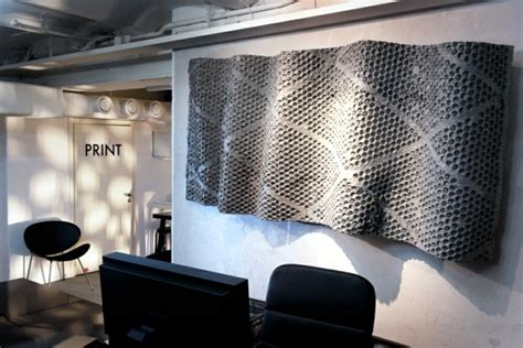 futuristic office furniture  metal wall panels
