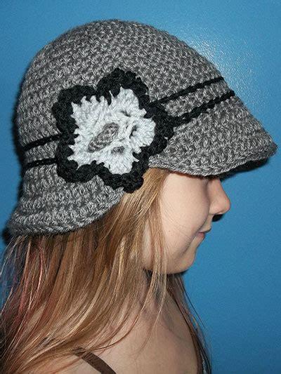 crochet pattern central headbands crochet vintage brimmed cloche rec1905