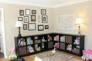 Living Room Toy Storage Ideas | it doesnt have to be toys i just like the arrangement