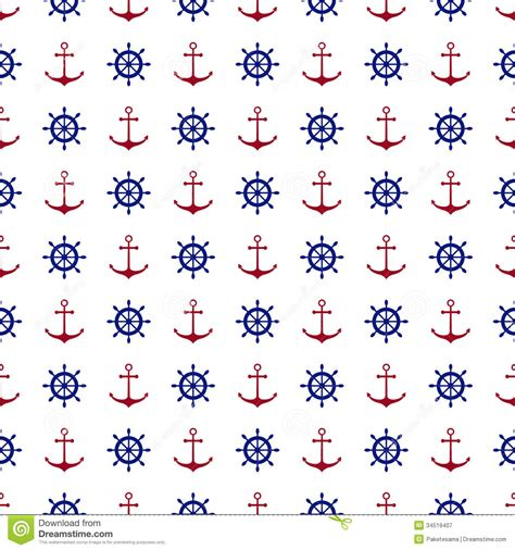 nautical pattern background seamless nautical background stock vector image 34519407