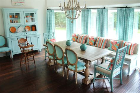 aqua dining room photo page hgtv