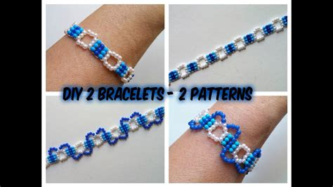 easy beading patterns for beginners diy 2 beaded bracelets with 2 patterns easy beading