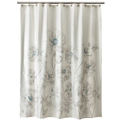 nate berkus shower curtains bath runner gray aqua 23x58 nate berkus target