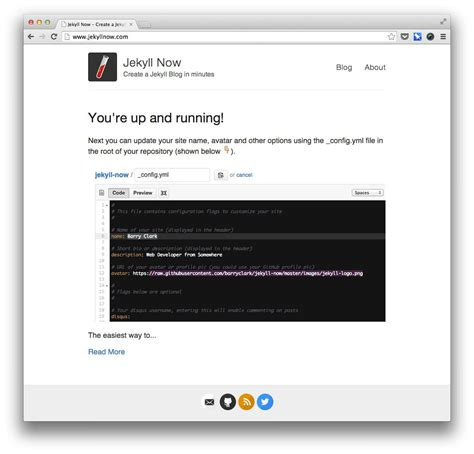 jekyll themes github pages build a blog with jekyll and github pages smashing magazine