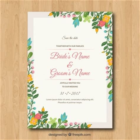 Wedding Invitation Letter Vector Flower Frame Vectors Photos And Psd Files Free