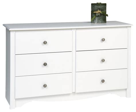 youth bedroom dressers prepac monterey white 48 inch youth size 6 drawer dresser