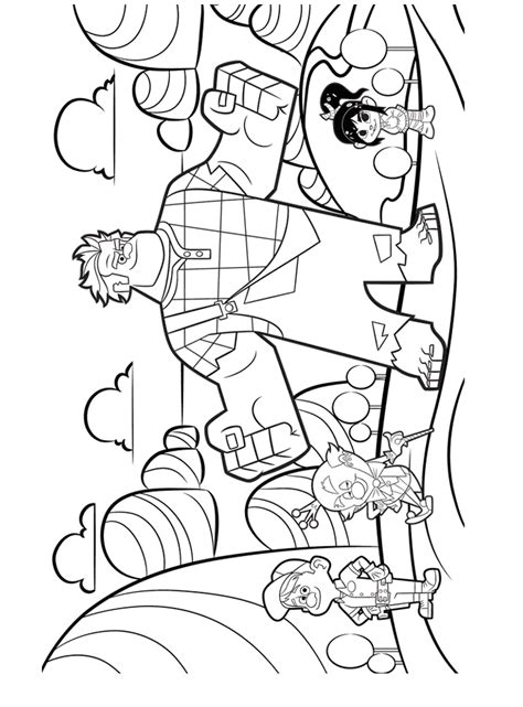 wreck it ralph coloring page wreck it ralph photo