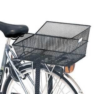 basil cento rear bag bike basket steel mesh fixed mounting