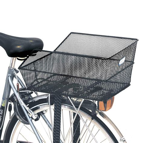 Bicycle Rear Rack Basket by Basil Cento Rear Bag Bike Basket Steel Mesh Fixed Mounting