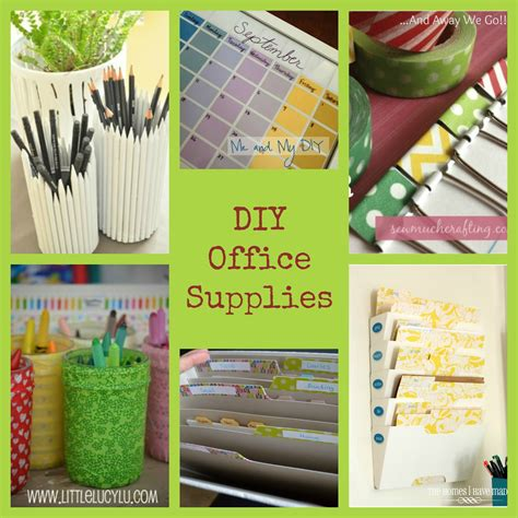 diy decorations with office supplies and away we go office supply diy