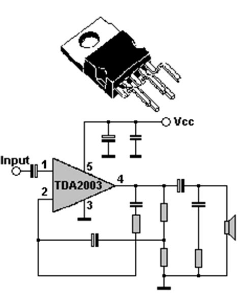 integrated circuit replacement guide the defpom tda2003 component info page