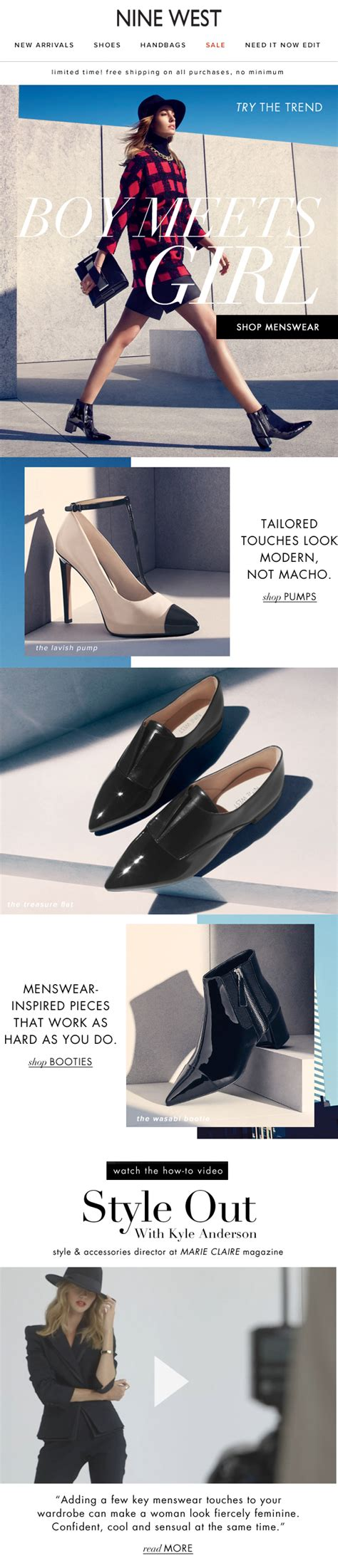 skillfeed graphic design layout bootc ninewest mosborne email layout shoes fall internet