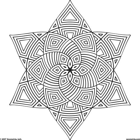 coloring pages of geometric patterns geometric pattern coloring pages 28196 bestofcoloring com