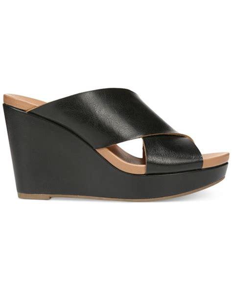dr scholls wedge sandals dr scholls mix it wedge sandals in black lyst