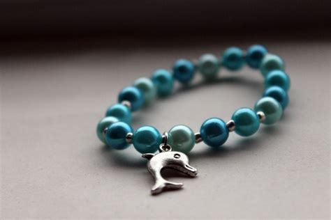 Handmade Bracelets - handmade blue beaded bracelet with tibetan silver by