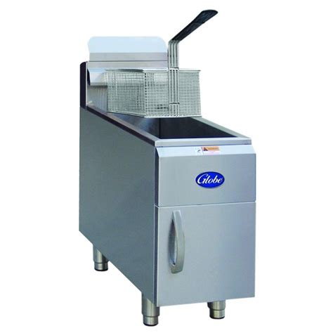 globe food equipment gf15g 15lb countertop fryer
