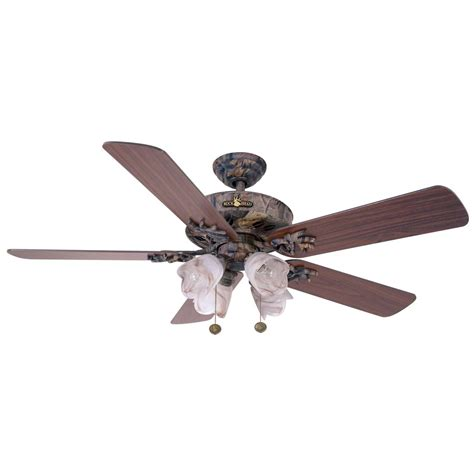 Duck Ceiling Fan by Marshall Buckhead Series Hardwoods Camo Ceiling Fan With Gunmetal Buckheads On Blades And