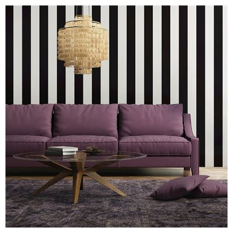 removable wallpaper target tempaper self adhesive removable wallpaper stripes black