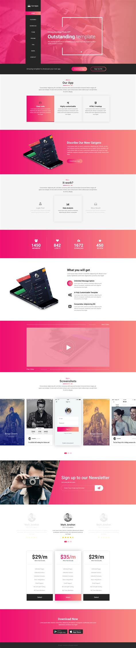 apps themes psd beli apps landing psd template by designvire