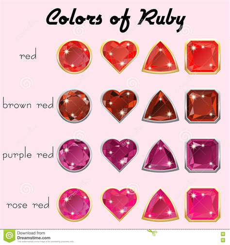 color of ruby colors of ruby stock vector image of brilliant
