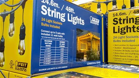 Feit 48 Ft Outdoor String Lights Costco Weekender Costco String Lights